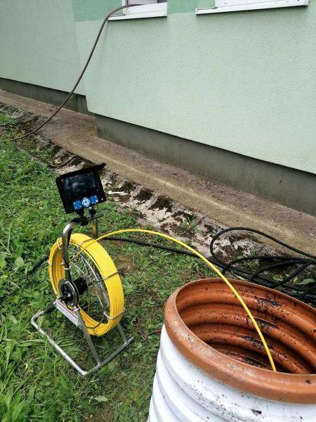 monitoring potrubí, čistenie kanalizácie