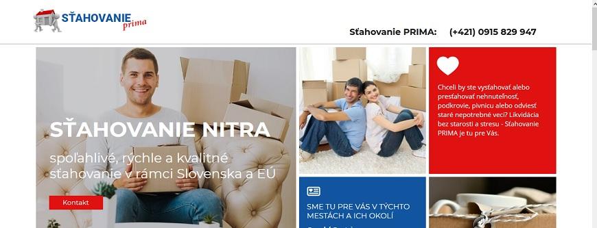 sťahovanie Nitra